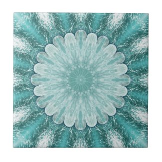 Geometric Floral Beach Star Bathroom Tile