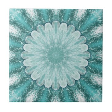 Beach Themed Geometric Floral Beach Star Bathroom Tile