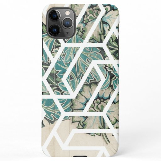 Geometric Floral Illustration Design iPhone 11Pro Max Case