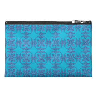 Geometric Floral in Bright Blue Travel Accessory Bag