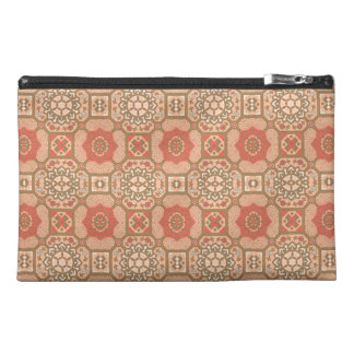 Geometric Floral in Melon Travel Accessory Bags