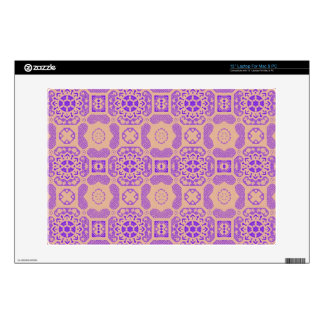 """Geometric Floral in Purple and Orange Decal For 13"""" Laptop"""