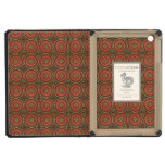 Geometric Floral in Red and Gold iPad Mini Retina Covers