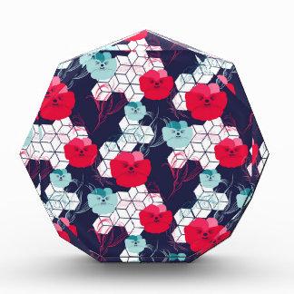 Geometric floral pattern award