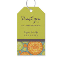 Geometric Floral Pattern Wedding Favor Gift Tags
