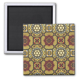 Geometric Floral  Pattern with Old World Charm Magnet