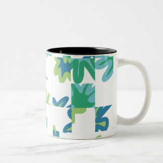 Geometric floral Two-Tone coffee mug