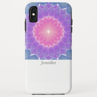 Geometric flower iPhone XS max case