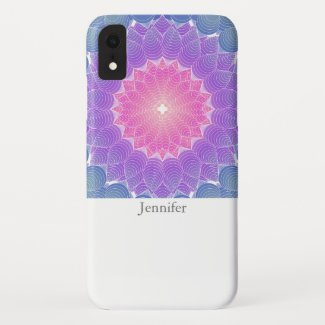 Geometric flower iPhone XR case