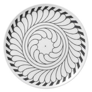 Geometric Flower Dinner Plate