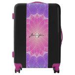Geometric flower luggage