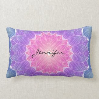 Geometric flower lumbar pillow
