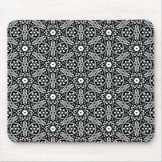 Geometric Flower Pattern Mouse Pad