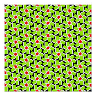 Geometric Flower Pattern Print