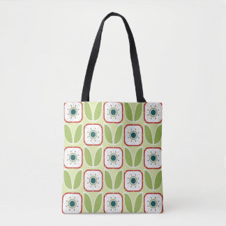 Geometric Flower Pattern Tote Bag