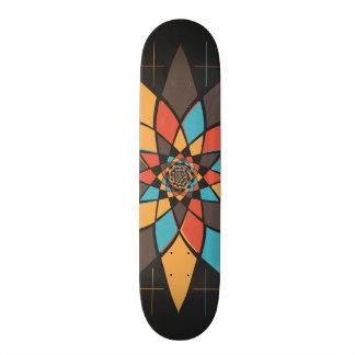 Geometric flower skateboard