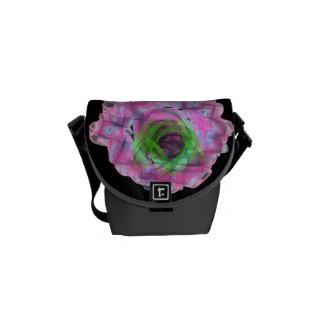 Geometric flower small Rickshaw messenger Messenger Bag