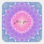 Geometric flower square sticker