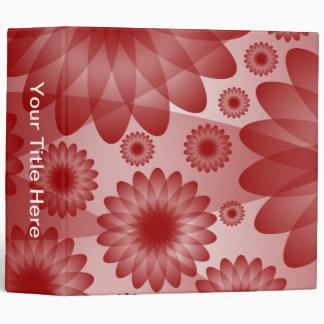 Geometric Flowers (2in) - Ruby Binder