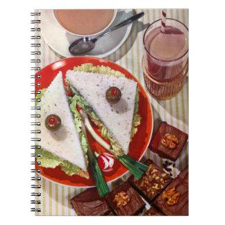 Geometric food. spiral notebooks