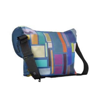 Geometric Forms Courier Bag