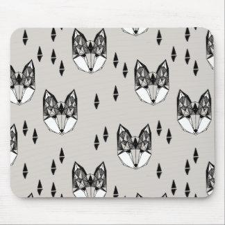 Geometric Fox Head Woodland Animal / Andrea Lauren Mouse Pad