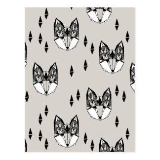 Geometric Fox Head Woodland Animal / Andrea Lauren Postcard