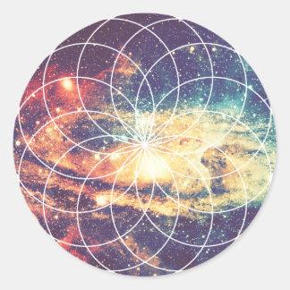 Geometric Galaxy #1 Sticker