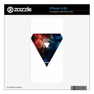 Geometric Galaxy Decals For The iPhone 4S