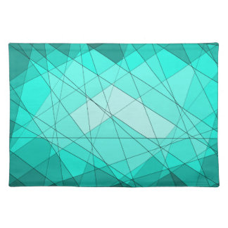 Geometric Gemstone Diamond Design Placemat