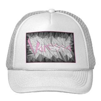 Geometric Gemstone Name Design Vanessa Mesh Hat