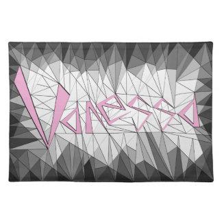 Geometric Gemstone Name Design Vanessa Place Mat