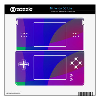 Geometric Gentle Deep Colors Skin For DS Lite