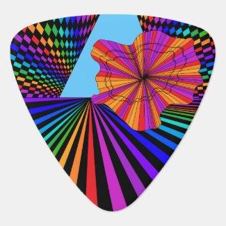 Geometric Geometrix Wild World Guitar Pick