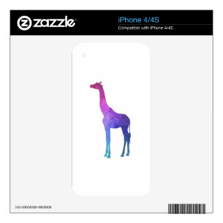 Geometric Giraffe with Vibrant Colors Gift Idea Decals For iPhone 4S