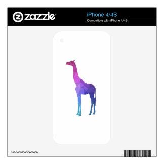 Geometric Giraffe with Vibrant Colors Gift Idea iPhone 4 Skin