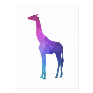 Geometric Giraffe with Vibrant Colors Gift Idea Postcard