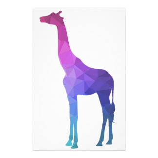 Geometric Giraffe with Vibrant Colors Gift Idea Stationery