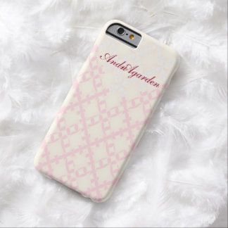 Geometric girly pastel pink barely there iPhone 6 case