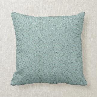 Geometric Glitter Ornamental Design Blue and Gold Pillows