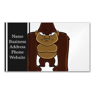 geometric gorilla.cartoon gorilla business card magnet