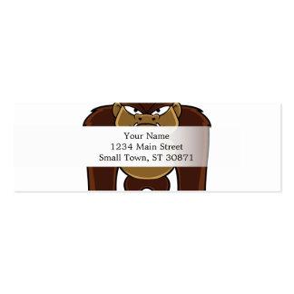 geometric gorilla.cartoon gorilla mini business card