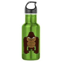 geometric gorilla.cartoon gorilla water bottle