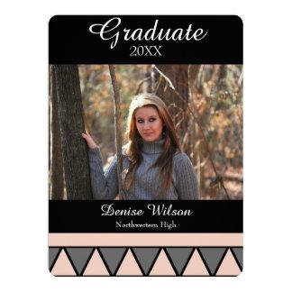 Geometric Graduation Photo Invitation