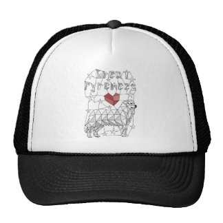Geometric Great Pyrenees Trucker Hat