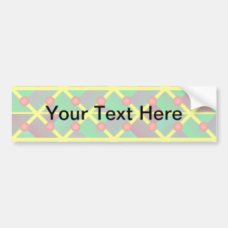 Geometric green abstract car bumper sticker