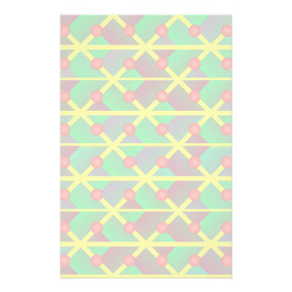 Geometric green abstract stationery