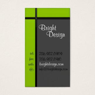 Geometric Green Business Card
