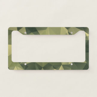 Geometric Green Camouflage. Camo your License Plate Frame