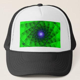 Geometric Green Fractal Trucker Hat